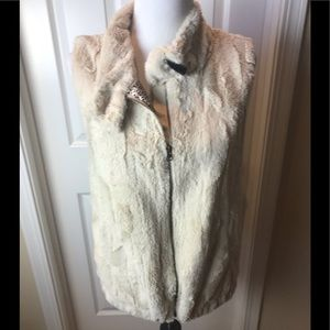 Sanctuary | Faux Fur Vest, Cream, Sz L